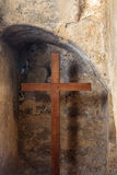 Cross in Stone Wall Royalty Free Stock Images
