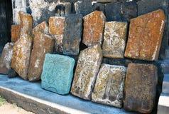 Khachkars or cross-stones stock photos