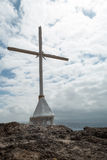 Cross with Stormy Skies (2). Christian Cross with Stormy Sky in Background Stock Images