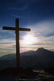 Cross summit mountain royalty free stock images