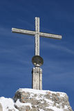 Cross on the summit of a mountain Stock Photography