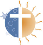 Cross of the Sun and Moon. Cross created from Sun and Moon together Royalty Free Stock Photography