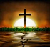 Cross and sun Stock Image