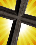 Cross On Sun Rays Royalty Free Stock Image