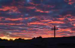 Cross Sun Setting Royalty Free Stock Photos