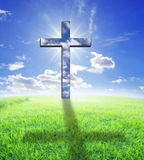 Cross and sunlight Royalty Free Stock Photos