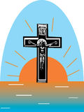 Cross and sunrise Royalty Free Stock Images