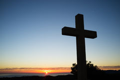 Cross at sunrise Royalty Free Stock Photography