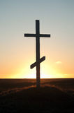 Cross on sunset Royalty Free Stock Images