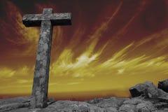Cross at sunset Royalty Free Stock Photo