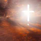 Cross and Sunset Royalty Free Stock Photos