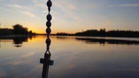 Cross. Sunset  estonia pärnu Stock Photography
