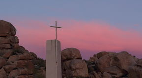 Cross at sunset Royalty Free Stock Photography