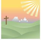 Cross in the Sunshine Stock Image