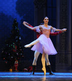 Cross support-The doll prince and Clara dancing -The Ballet  Nutcracker Stock Images
