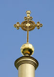 Cross Svyato-Uspenskiy Cathedral. Ukraine .Poltava Stock Photos