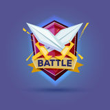 Cross sword with shield. Knights Equipment. battle concept Royalty Free Stock Photography