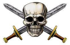 Cross Swords and Skull Royalty Free Stock Photo