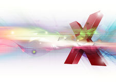 Cross symbol abstract background Royalty Free Stock Image