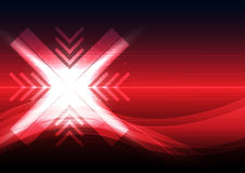 Cross symbol abstract design Stock Images
