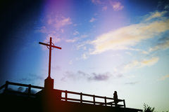 Cross symbol of Christianity Stock Photography