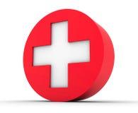 Cross the symbol of medicine Stock Photos