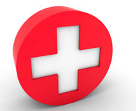 Cross the symbol of medicine Royalty Free Stock Images