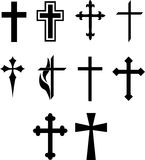 Cross symbol set Royalty Free Stock Photo