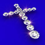 Cross symbol shape diamond art illustration Stock Image
