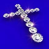 Cross symbol shape diamond art illustration Stock Image