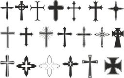 Cross symbols Stock Photo