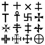 Cross symbols set Stock Photo
