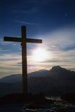 cross szczyt górski Obrazy Royalty Free