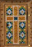 Cross, the tabernacle door, Saint-Jean de Montmartre church, Paris. France Stock Photo