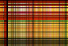 Cross Tartan red and green pattern - Plaid Clothing Table. Plaid is a pattern consisting of crossed horizontal and vertical bands in two or more colours in woven Stock Image
