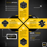 Cross in techno styles made of 4 banners. Royalty Free Stock Image