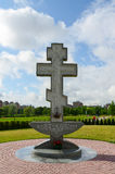 Cross on territory of Pokrovo- Nicholas Church, Klaipeda, Lithua Royalty Free Stock Photography
