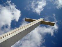 Cross to heaven. Cross floating in the sky towards heaven Stock Photos