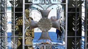 Cross at Tomb of the Unknown Soldier. Warsaw, Poland Stock Photography