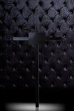 Cross tombstone  on dark luxury background. Royalty Free Stock Photography