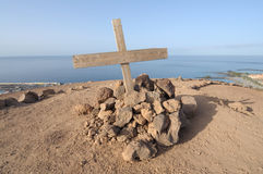 Cross on top of Chayofita mountain, Tenerife Stock Photos