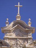 Cross on the top of church. Stock Photo