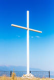 Cross on the top of the mountain Stock Photography