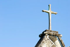 Cross on the top of old church Royalty Free Stock Photos