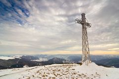 Cross on the top Royalty Free Stock Photography
