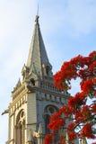 Cross tower, bell tower of a church Stock Photos