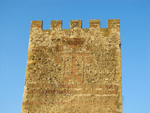 Cross tower of Smederevo Fortress Stock Photos
