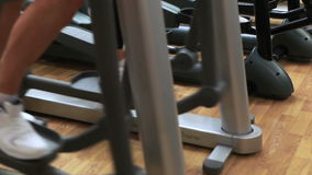Cross trainer stock footage
