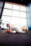 Cross-training in gym Royalty Free Stock Images