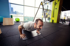 Cross-training in gym Stock Images
